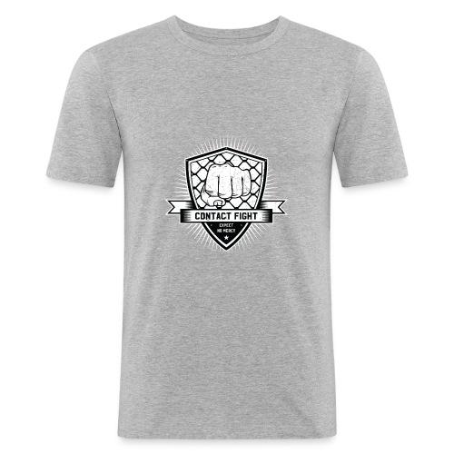 Contact Fight Vintage - Männer Slim Fit T-Shirt