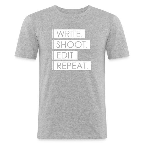 Write, Shoot, Edit, Repeat - Männer Slim Fit T-Shirt