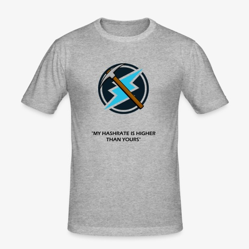 Electroneum - My HashRate is Higher than yours - T-shirt près du corps Homme