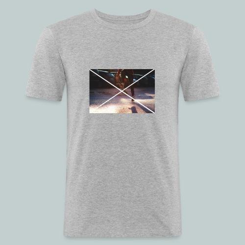 Skate-Hoodie&T-Shirt - Männer Slim Fit T-Shirt