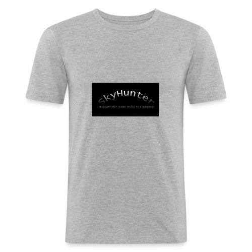 SkyHunter Logo Black - Männer Slim Fit T-Shirt