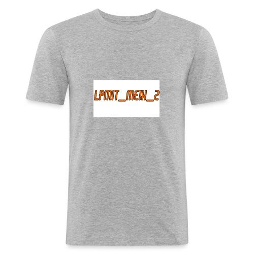 LPMIT_Meik_2 Schriftzug Orange - Männer Slim Fit T-Shirt