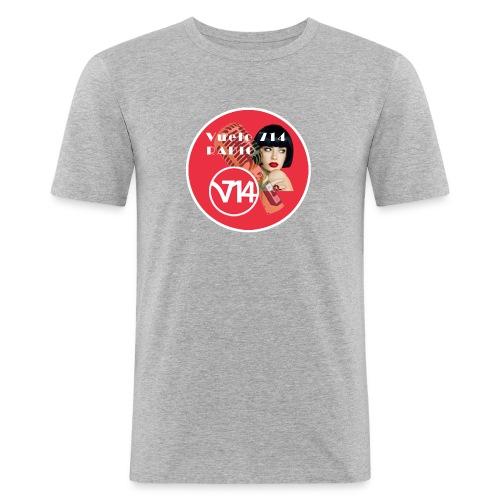 Logo pin up circle 1080x1080 - Camiseta ajustada hombre