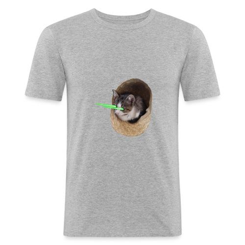 chatlazer - T-shirt près du corps Homme