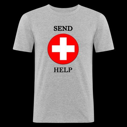 SendHelp - Männer Slim Fit T-Shirt