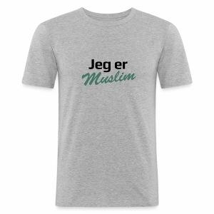 jeg er muslim - Herre Slim Fit T-Shirt