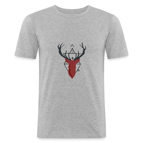 Ciervo geométrico - Camiseta ajustada hombre