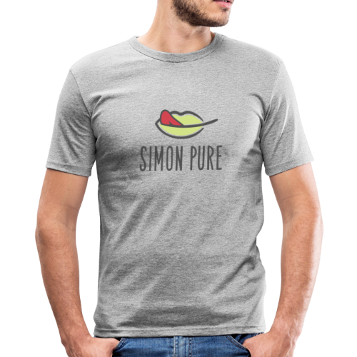 Simon Pure ❤ - Männer Slim Fit T-Shirt
