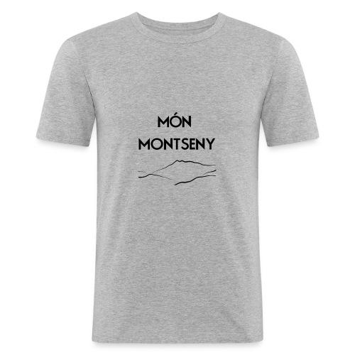 logo monmontseny - Camiseta ajustada hombre