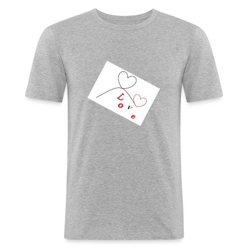 love - Maglietta aderente da uomo