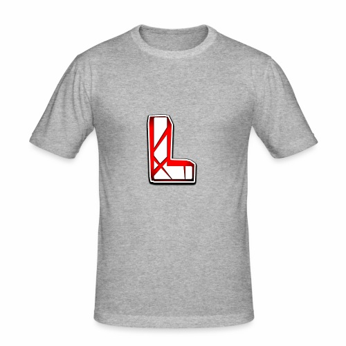 Leon Schmidt LOGO - Men's Slim Fit T-Shirt