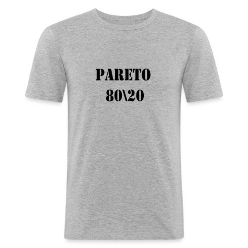 Pareto 80\20 - Männer Slim Fit T-Shirt