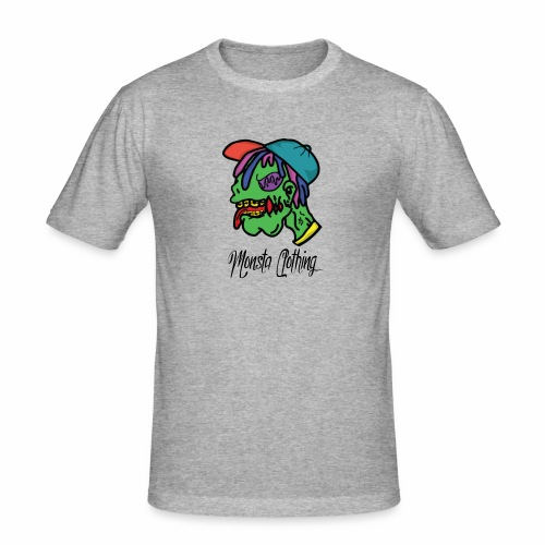 Monsta T-Shirt With Text - Men's Slim Fit T-Shirt