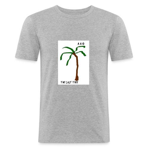 Draw-palm-brown-green - Slim Fit T-shirt herr