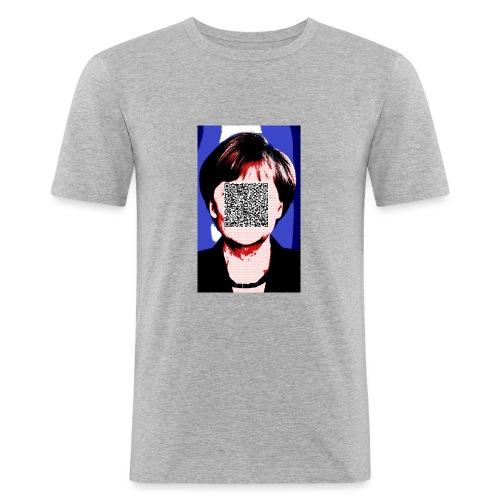 Merkel_bunt_mit_Amtseid - Männer Slim Fit T-Shirt
