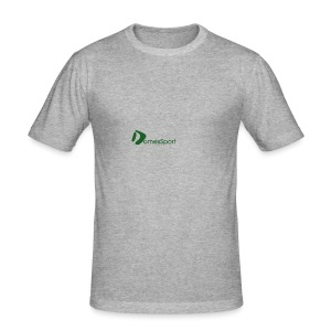 Logo DomesSport Green noBg - Männer Slim Fit T-Shirt