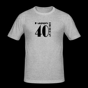 40 Jahre Happy Birthday - Männer Slim Fit T-Shirt
