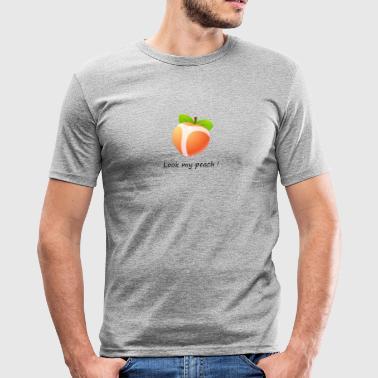 Schauen Sie meinen Pfirsich - Männer Slim Fit T-Shirt