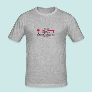 Wearing Glasses - Red - Tee shirt près du corps Homme