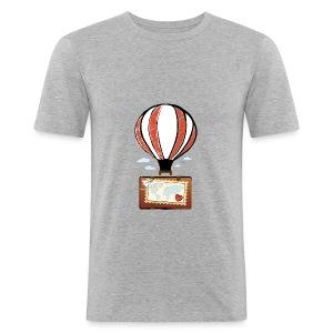 CUORE VIAGGIATORE Gadget per chi ama viaggiare - Maglietta aderente da uomo