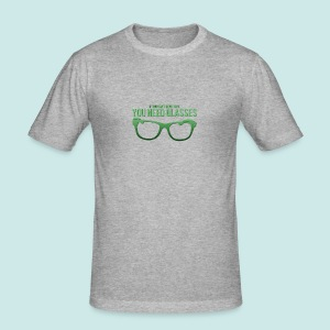 Need Glasses - Green - Tee shirt près du corps Homme