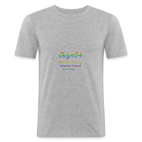 Olejor94 sover snorken English - Slim Fit T-skjorte for menn