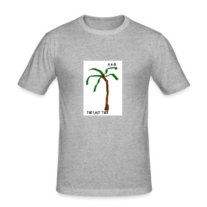 Draw-palm-brown-green - Slim Fit T-shirt herr