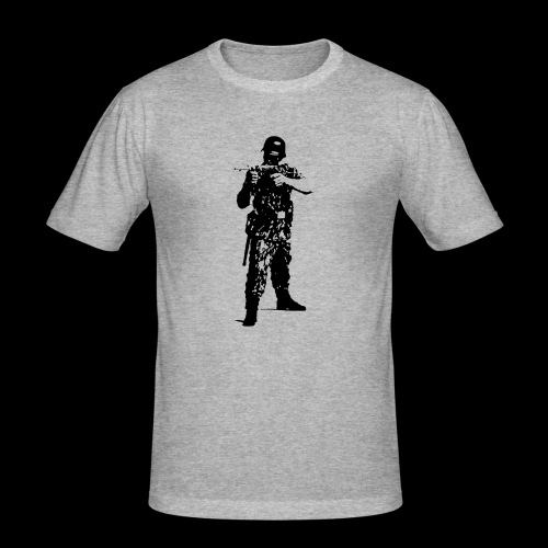 Soldat Attacke - Männer Slim Fit T-Shirt