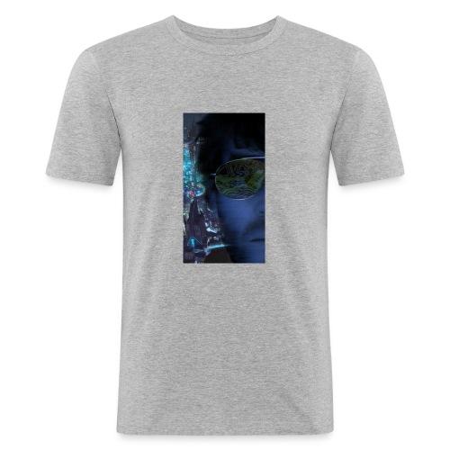Cyberpunk - Fly verkligheten med en T-shirt - Slim Fit T-shirt herr