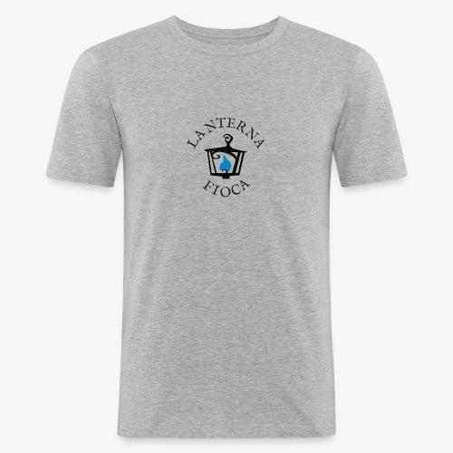 Logo e Scritta Lanterna Fioca - Maglietta aderente da uomo