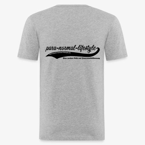 PNL Querschnittlähmung hinten (Aufdruck black) - Männer Slim Fit T-Shirt