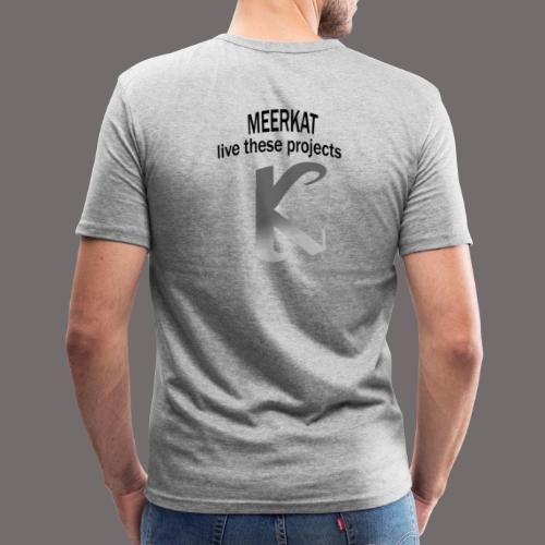 Première collection MEERKAT - logo et slogan - T-shirt près du corps Homme