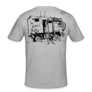 Sketch Expedition Truck Terratrotter® - Men's Slim Fit T-Shirt
