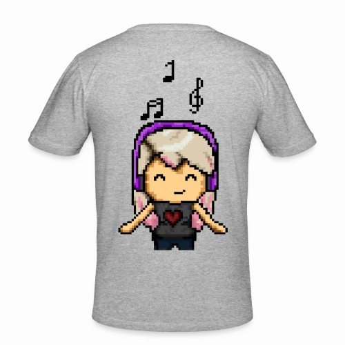 Carina Musik pixel - Männer Slim Fit T-Shirt