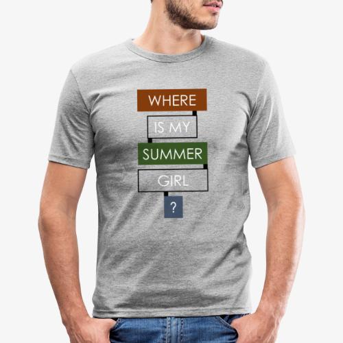 Where? for Man - Camiseta ajustada hombre
