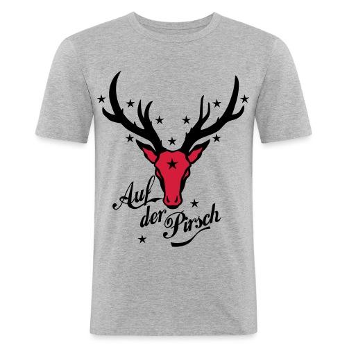 Hirsch auf der Pirsch - Männer Slim Fit T-Shirt