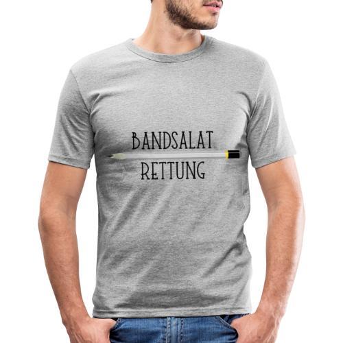 Bleistift Bandsalat Rettung 1 - Männer Slim Fit T-Shirt