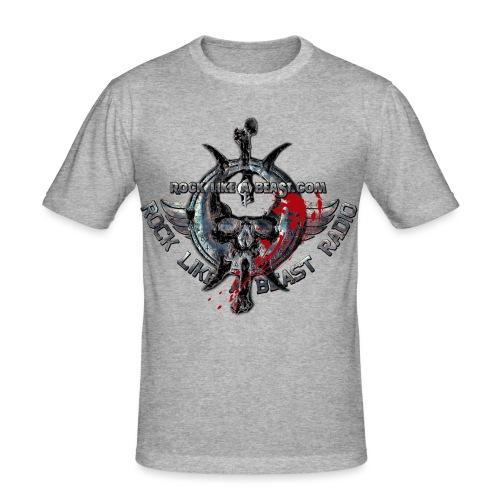 BloodSkull3 png - Slim Fit T-shirt herr