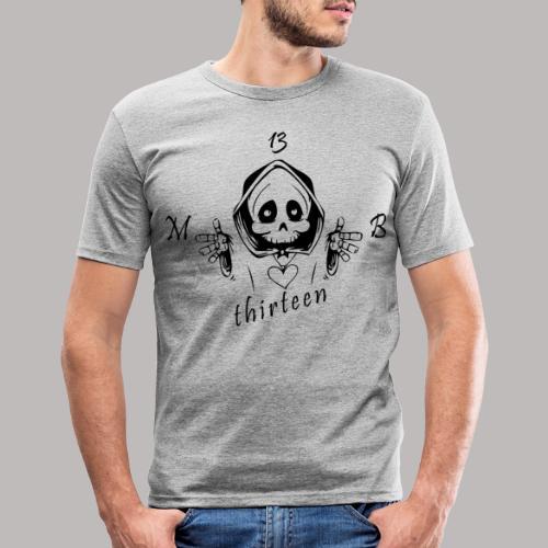 MB13 - Skull - Men's Slim Fit T-Shirt