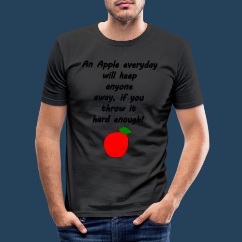 Apple Doctor - Männer Slim Fit T-Shirt