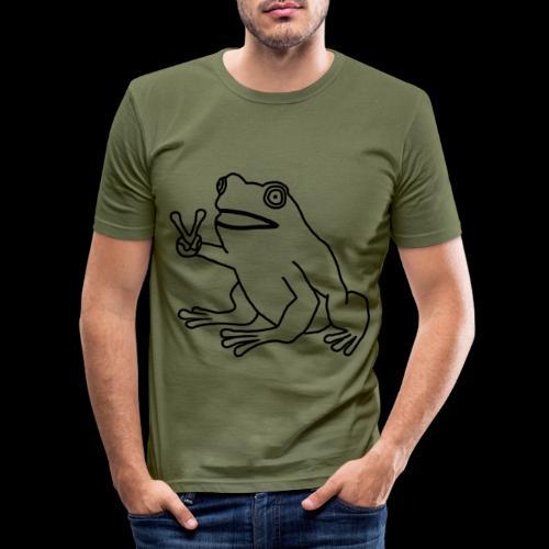 Funny Animal Frog Frosch - Männer Slim Fit T-Shirt