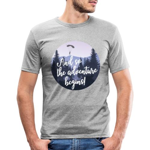 And so the adventure begins - Mannen slim fit T-shirt