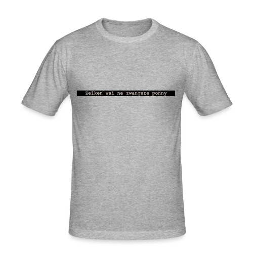quote 1 - Mannen slim fit T-shirt