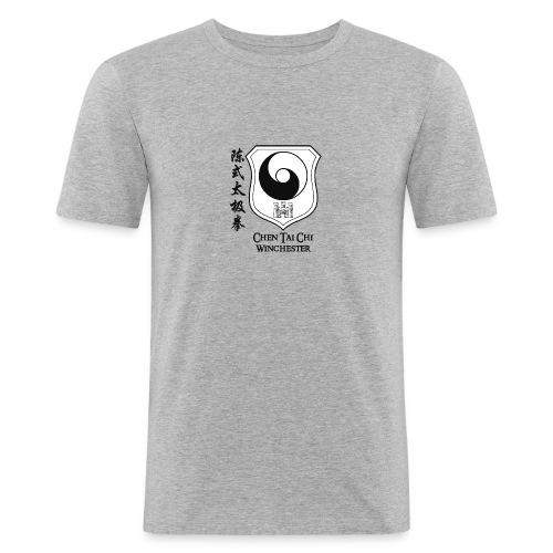 Coat of arms black on white - Men's Slim Fit T-Shirt