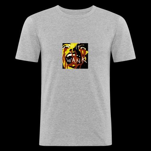 shit wank bank thank - Men's Slim Fit T-Shirt