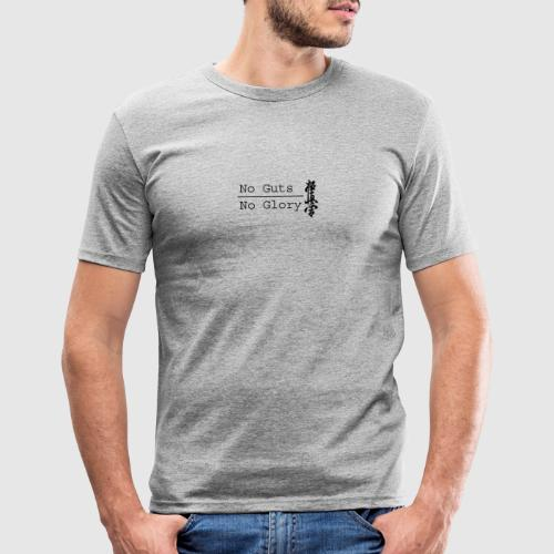 No guts No glory logo - Mannen slim fit T-shirt