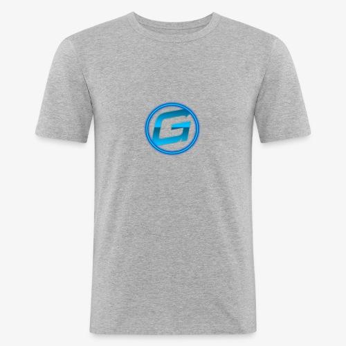 Logo klein - Mannen slim fit T-shirt