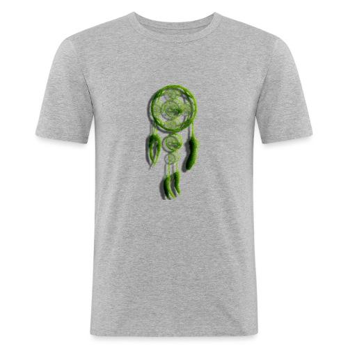 SCACCIA_SOGNI_ERBA-png - Maglietta aderente da uomo