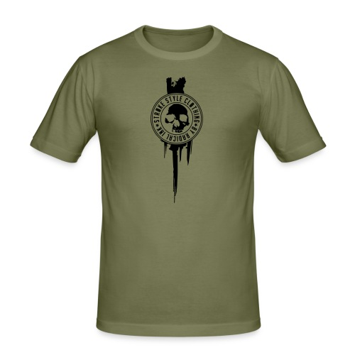 patch stroke pfade - Männer Slim Fit T-Shirt
