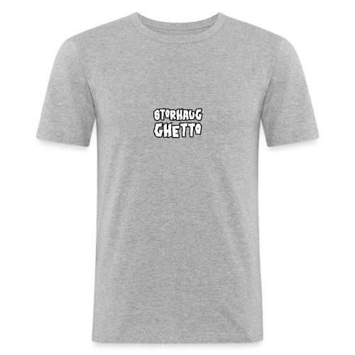Storhaug Ghetto Plain Logo - Slim Fit T-skjorte for menn
